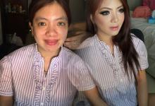 Wedding makeup for ce elisabet by Imel Vilentcia Make Up Artist