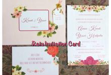 Singleboard FC bunga by RATU INVITATION CARD