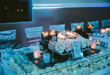 40th birthday dinner  by blue velvet marquee