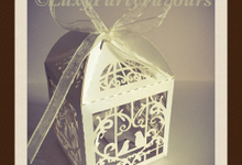 Birdcage, Butterfly and Bride and Groom favour box by luxy party favours