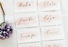Spring theme invitations design by Meilifluous Calligraphy & Design