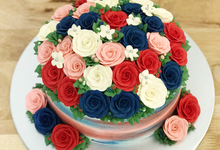 Single Tiered 3D Floral Cakes by My Sister Bakes