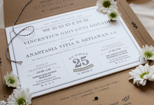 Vincent & Vitia Rustic wedding by Bluebelle Invitations