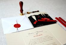 Invitations B&F by Diana Martins studio