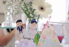 David Annyzia Wedding by Mantequilla Classic Cookies Factory