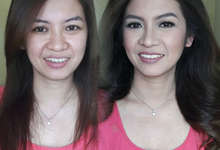 Before and After by Hair & Make-Up By Frankie