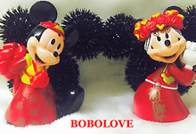 Mickey and Winnie corsage by bobolove cottage