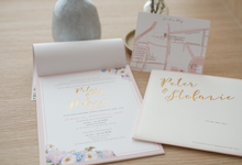 Pastel with Postcard Design Invitation by Memoir Paperie