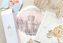 Giovanni & Audrey invitation & packaging by Fornia Design Invitation