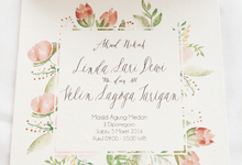 Dewi + Velin Invitation by Meilifluous Calligraphy & Design