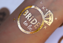 Gold bachelorette temp tats by Tats4now LLC