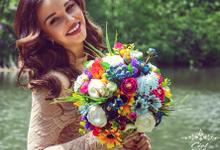 Silk Flowers Wedding Bouquets by CielDeLys