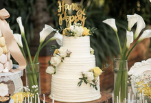 Rustic-Chic Wedding Cake by K.pastries
