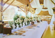 Setting Table Arrangement Rustic Modern by H2 Design.co