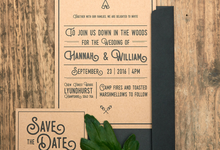 Forest template design by Vicky Perry Wedding Stationery