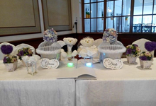 White & purple theme wedding reception by ilmare Wedding