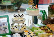 Boy first birthday party dessert table by Yoyosummer