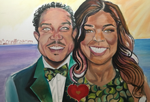 Custom Couple Art by Amber R Taylor Live Art