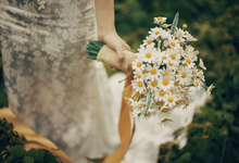 Brides bouquet clay flowers by Keasecret