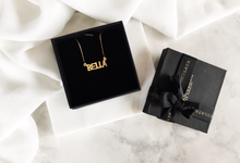 18ct Fine Gold Bella Name Necklace by AEROCULATA