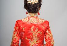 Chinese KUA with braid do by Jen Lim Makeup Artist