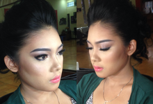 Engagement makeup for christin wara by Makeup by Lutvina