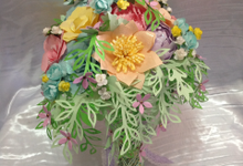 Pastel Handcrafted Entourage Bouquets by Duane's Fleur Creatif