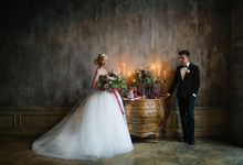 Marsala wedding by Aleksandra Sashina