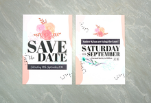 Spring template design by Vicky Perry Wedding Stationery