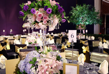 Raffles Hotel, VIP Table Arrangement by Yulika Florist & Decor