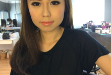 Bride makeup by Hannah Sherly