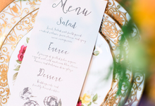 Ivory & Earth Floral Menu & Table Numbers by Brown Fox Creative