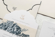 Blue Chinoiserie by Pensée invitation & stationery
