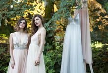 Blush evening line by Charm Wedding & Evening Design