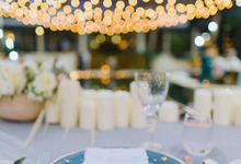 Beachfront wedding in delicate blues by Butter Bali