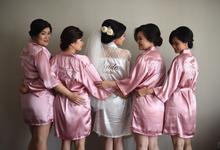 Dusty Pink Satin Robe by dydx Bride