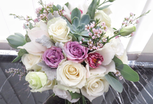 Succulent bouquet for Ranie and Victor wedding by Royal Petals