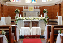 Church Decor by La Bloom Florist