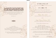 Setting design by RATU INVITATION CARD