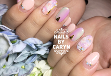 Bridal nails  by nails by Caryn
