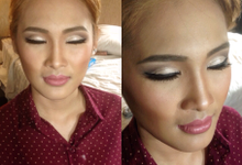 Before after Family Wedding makeup by Christin Bun MUA