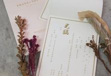 Frans & Novyca Dusty Pink Invitation by Bluebelle Invitations