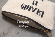 Pouch Zipper kanvas  by Packy Bag Vintage