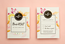 Vintage Floral template design by Vicky Perry Wedding Stationery