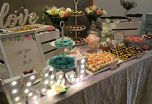 Pastel Floral Wedding Dessert Table :) by Baker V