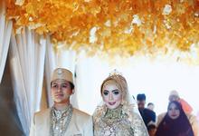 Maroon Gold Wedding Theme of Shelly & Nosa by Mutiara Garuda Catering