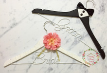 Decorative Groom and Bride Hangers by Wedding Hanger Bali