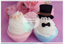 Bride & Groom Cupcakes by Bubblelicious Soap & Souvenirs