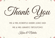 Kevin and Natalia Wedding Invitation  by Blumento Cards