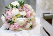 Blush Bridal Bouquet by La Bloom Florist